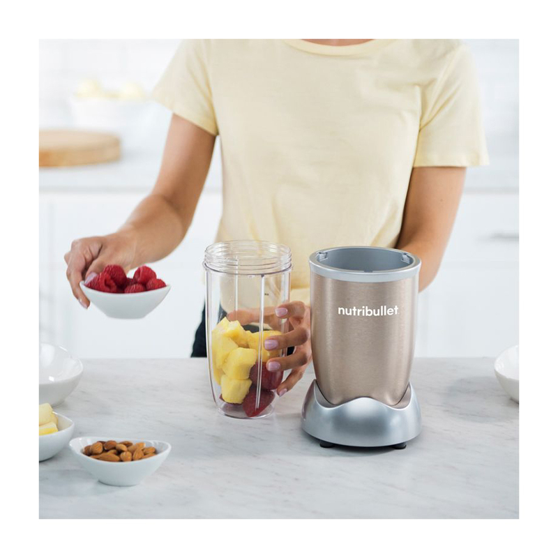 Nutribullet Pro Series 10-Piece 900ml Electric Stainless Steel/Plastic Blender Set, 900W, NB9-1012, Copper/Clear