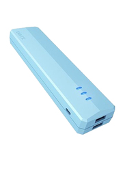 Iwalk 10400mAh Supreme Duo Power Bank, with Micro-USB Input, with Micro-USB Cable, UBS10400D, Blue