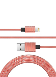 Iwalk 1-Meter Premium Certified Metallic Lightning Cable, 2.4A USB Type A Male to Lightning for Apple Devices, Rose Gold