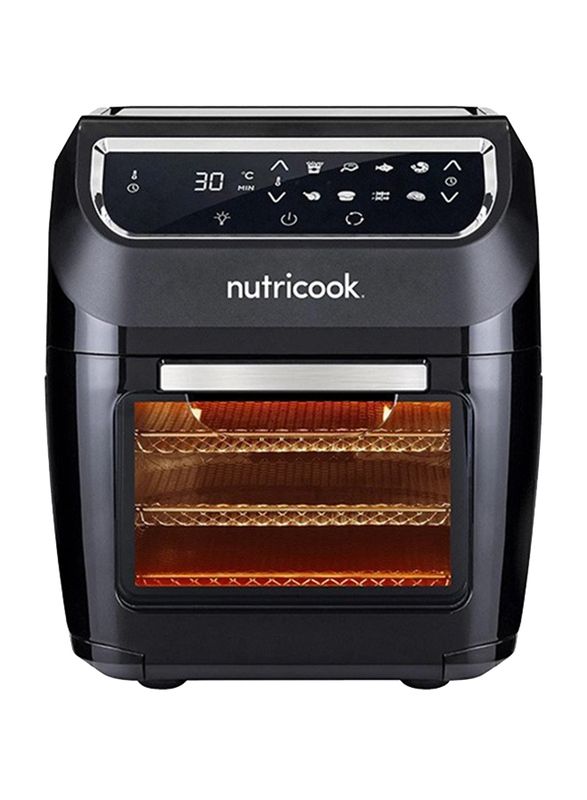 Nutri Cook 12L Electric Stainless Steel Air Fryer Oven, 1800W, NC-AFO12, Black