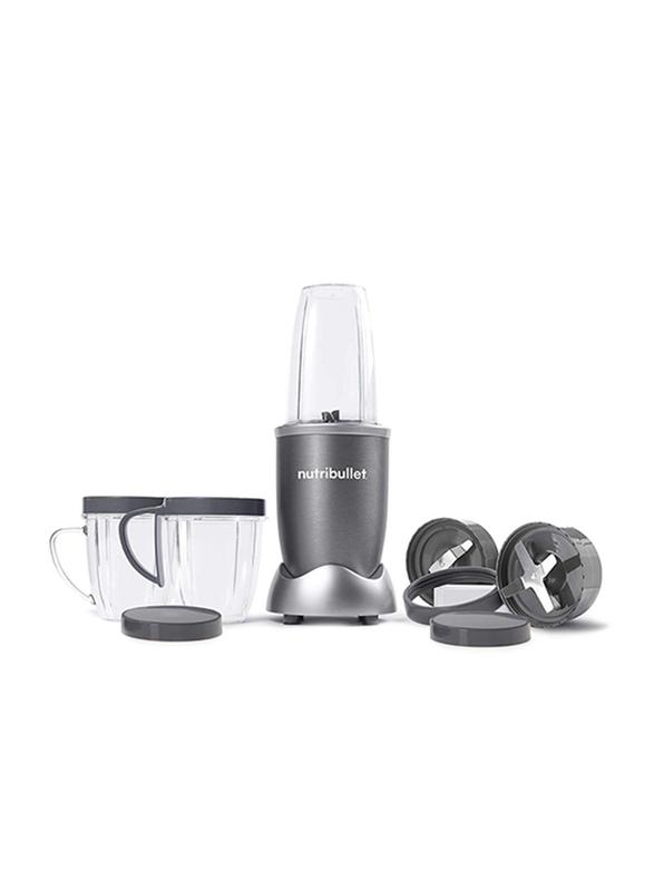 Nutribullet 12-Piece 680ml Electric Stainless Steel/Plastic Blender Set, 600W, NBR-1212M, Grey