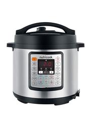 Nutri Cook Eko 6L Smart Pot Electric Stainless Steel Rice Cooker, 1000W, NC-SPEK6, Silver/Black