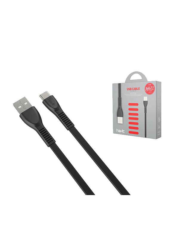 Havit 1-Meter USB Type-C Cable, Fast Charging USB 2.0 Type A Male to USB Type-C for USB Type-C Devices, Black