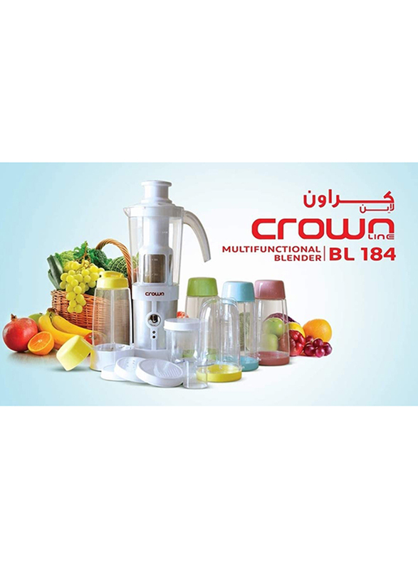 Crownline Multifunction Blender, 220W, BL-184, White