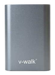 V-Walk 10000mAh Lithium-Polymer High Density Slim Metal Body Power Bank, with Micro-USB Input, with Micro-USB Cable, HT-B10, Grey