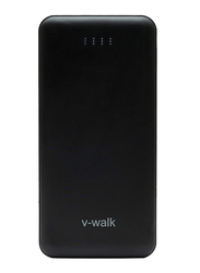 V-Walk 10000mAh Lithium-Polymer Power Bank, with Micro-USB Input, with Micro-USB Cable, HT-A10, Black