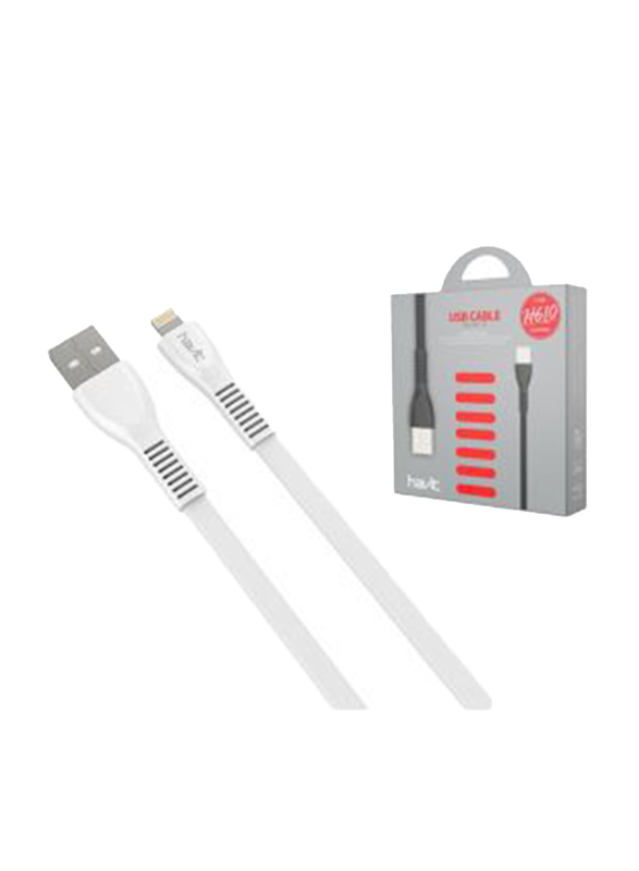 Havit 1-Meter Lightning Cable, Fast Charging USB 2.0 Type-A Male to Lightning for Apple Devices, White