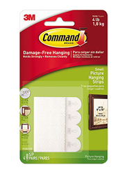 3M Command Small Picture Hanging Strips, 17202ES, White