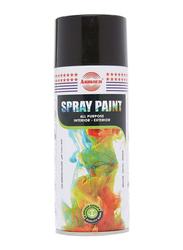 Asmaco 400ml Spray Paint, Matt Black