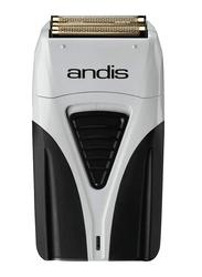 Andis Profoil Lithium Plus Titanium Foil Shaver, Grey/Black