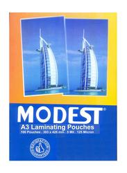 Modest A3 Laminating Pouches, 303 x 426mm,100-Pieces, Multicolor