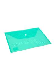 Modest My Clear Bag Document Storage Bag, Green