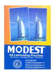 Modest A4 Laminating Pouches, 216 x 303mm, 100-Pieces, Multicolor