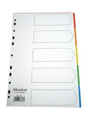 Modest PVC 1-5 Divider File Folder, White