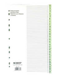 Modest PVC 1-5 Divider File Folder, Grey