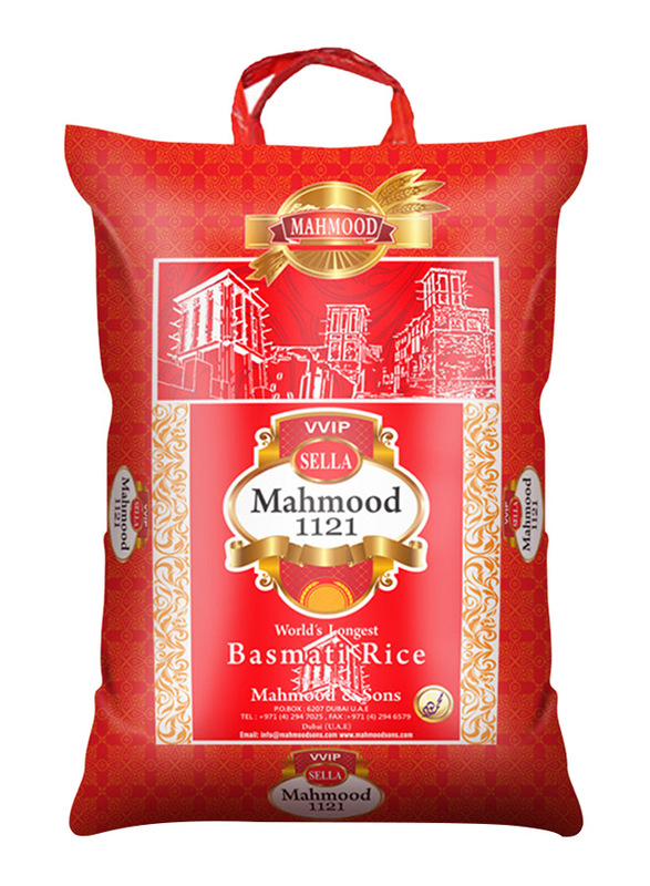 Mahmood Vvip 1121 Sella XXXL Basmati Rice, 10 Kg