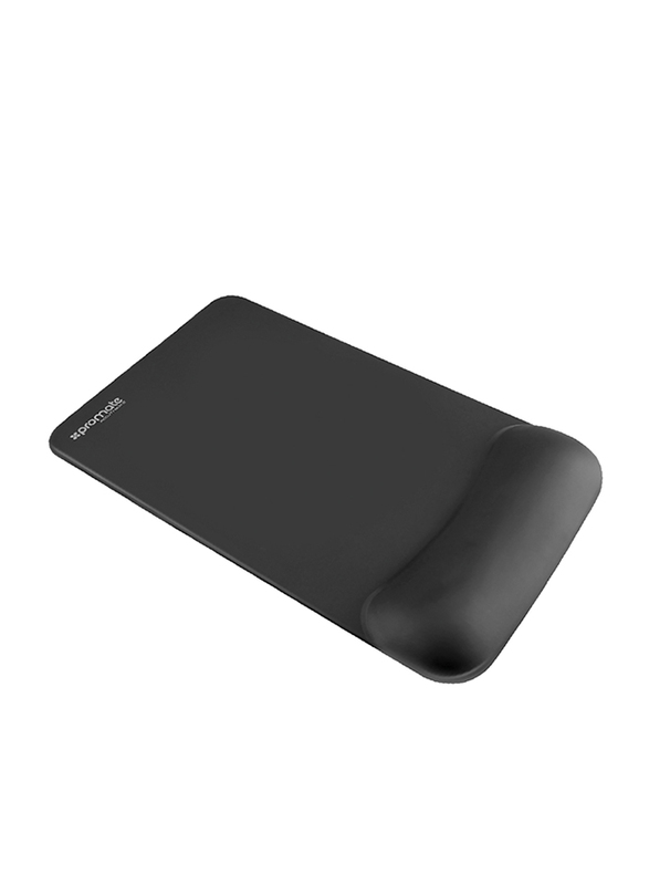 Promate Accutrack-2 Mouse Pad for Laptops/Desktop, Ergonomic Non-Slip with Anti-Microbial Memory Foam Wrist Support & Large Accurate Tracking Surface, Black