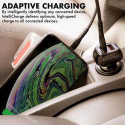 Promate Scud-30 Qualcomm Car Charger, Fast Charging 30W 2.4A Cigarette Lighter Power Outlet with Quick Charge 3.0 USB Port and Over-Charging Protection for iPad, GPS, Mobile Phones and Tablets, Black