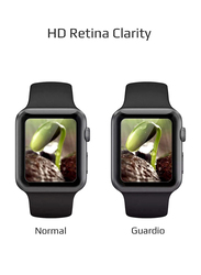 Promate Guardio-38 Screen Protector for Apple Watch 38mm Series 1/2/3, 3D Full Coverage Tempered Glass with Scratch Resistance 9H Hardness and Anti-Fingerprint, Clear