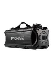 Promate Escalade 30W Wireless Bluetooth Speaker, IPX5 Water-Resistant with Mic, Rechargeable 4000mAh Battery, MicroSD Card Slot and 3.5mm Audio Jack for Travel and Outdoor, Black