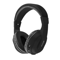 Promate Tempo-BT Wireless Headphones, 2-in-1 Wireless and Wired Bluetooth with Microphone, Hi-Fi Sound, Soft Memory Earmuffs, Aux Cable and Noise Cancellation, Black