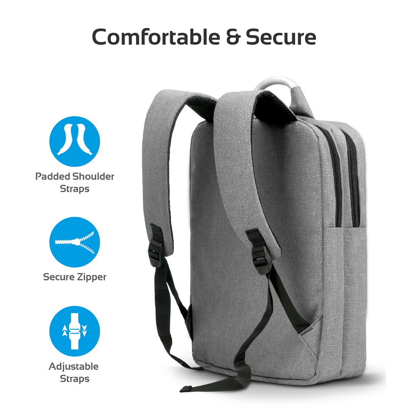 Promate Nova-BP Business Laptop Backpack, Travel Anti-Theft Slim for 15.6 Inch with Water Resistant, Secure Pockets and Adjustable Shoulder Padded Strap, Black