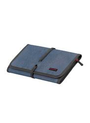 Promate Travelpack Multi-Purpose Accessories Organizer for Women, Large, Blue