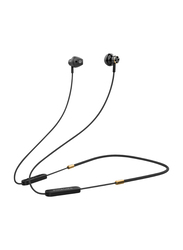 Promate Dynamic-X5 Bluetooth In-Ear Noise Isolation Neckband Sporty Earphones with Built-in Mic, IPX5 Water Resistant, Black