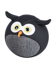 Promate Hedwig 3W Portable Mini Owl Wireless Bluetooth v5.0 Speaker, with Built-In Microphone and 400mAh Rechargeable Battery for Kids/Smartphones/Tablets/iPod, Black