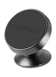Promate Magnetto-2 Magnetic Car Smartphones/Tablets Holder, Multi-Angle 360° Metallic Magnetic Mount with Anti-Slip Surface, Fast Swift-Snap Technology, Grey