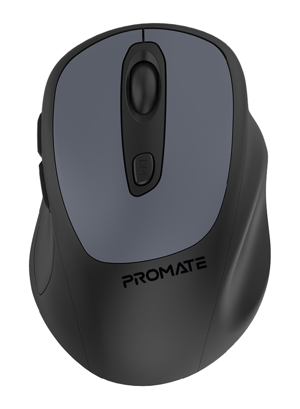 Promate Clix-9 Wireless Precision Fluid Scrolling Optical Mouse, Grey