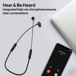 Promate Bali Bluetooth In-Ear Neckband Earphones with Built-in Hi-Res Mic, Magnetic Closure, Black