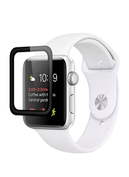 Promate Guardio-44 Screen Protector for Apple Watch 44mm Series 4, 3D Full Coverage Tempered Glass with Scratch Resistance 9H Hardness and Anti-Fingerprint, Clear