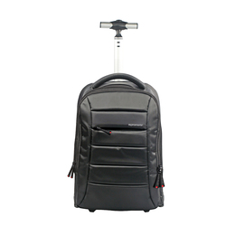 Promate BizPak-TR Heavy Duty Trolley Bag for 15.6 Inch Laptop, Black