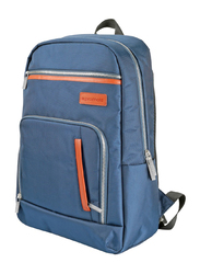 Promate Expidition-BP 15.6-Inch Laptop Backpack Bag with Document Organizer, Quick Access Zipper, Lightweight All-Terrain Durable Secure Multi-Storage, Blue