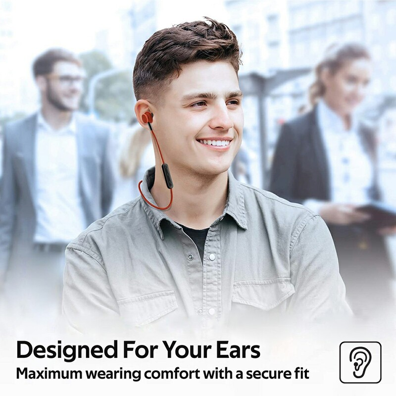 Promate Bali Bluetooth In-Ear Neckband Earphones with Built-in Hi-Res Mic, Magnetic Closure, Maroon