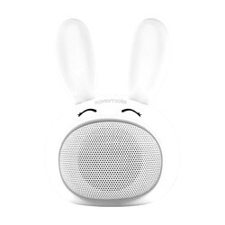 Promate Bunny Kids Bluetooth Speaker, Portable Wireless V4.1 Speaker with HD Sound Quality, Hands-Free Call Function and Cute Bunny Design, White