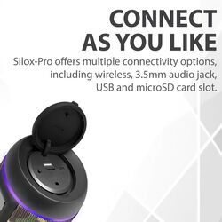 Promate Silox-Pro Portable Indoor/Outdoor 30W Wireless Bluetooth Stereo Speaker, IPX6 Water-Resistant with Mic, FM Radio, TF Card Slot, USB Port, Audio Jack & Built-In 6600mAh Power Bank, Camouflage