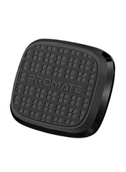 Promate Magnetto Magnetic Car Mount, Universal Slim Flat Stick-On Dashboard with 360 Degree Cradle-Free Design and Anti-Slip Surface, Black