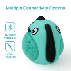 Promate Snoopy Wireless Speaker, Portable Kids Bluetooth v4.1 Speaker with HD Sound Quality, Hands-Free Call Function and Cute Dog Design, Blue