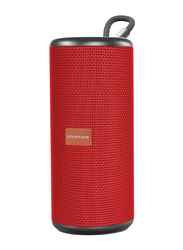 Promate Pylon Portable Bluetooth Stereo Sound Speaker, Red