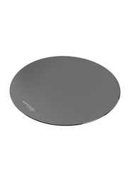 Promate MetaPad-1 Mouse Pad for Any Optical Laser Mouse/Gamer/Desktop/Laptop, Premium Ultra-Thin Non-Slip Rubber Base and Metallic Surface with Fast and Accurate Control, Grey