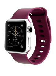 Promate Rarity-38ML Strap for Apple Watch 38mm/40mm Series 1/2/3/4, Medium/Large Size, Adjustable Strap with Sweatproof and Pin-and Tuck Closure, Workout, Fitness, Pink