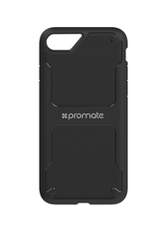 Promate Shield-i7 iPhone 7 Cover Case, Protective Easy Snap-On Impact Resistant Cover, Black