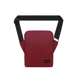Promate Quire 10 Inch Compact Messenger Case Bag for Tablets with Water Resistance and Interior Bubble Pad Protector, Maroon