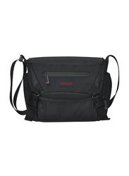 Promate Arco Medium DSLR Messenger Bag for Camera/Camcorder/Lens, with Durable Shock Resistant, Shoulder Strap, Adjustable Foam Padded Compartments and Rain Cover, Black