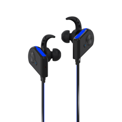 Promate Fluid Bluetooth Earphones, Wireless Bluetooth 4.1 Magnetic with HD Sound Quality, Sweatproof, Secure-Fit, Built-In Mic and Noise Isolation, Blue