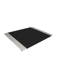 Promate MetaPad-Pro Mouse Pad for Laptops/PC/Desktops, Premium Leather-Wrapped Anodized Aluminum with Non-Slip Rubber Base for Fast Accurate Control and Large Working Area, Silver