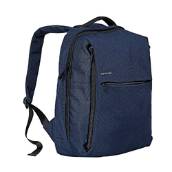 Promate CityPack-BP Laptop Backpack, Heavy-Duty Canvas Styled Durable with Multiple Storage, Quick Access Zipper and Secure Anti-Theft Design for Laptop, Blue