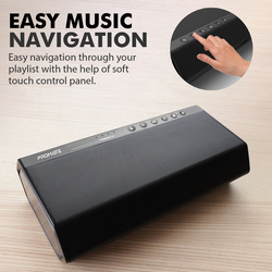 Promate Maestro Portable Wireless Speaker, Premium Stereo Sound 40W Bluetooth with Powerful 20W Subwoofer, Dual Tweeter, 3.5mm Jack, Micro SD Card Slot and Built-In Mic, Black